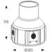 Грунтовый светодиодный светильник B2AR0102-1x2W-CW-30-240V-IP67 симметричный