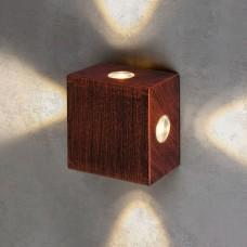 Уличный настенный светодиодный светильник Kvatra красно-черный 1601 TECHNO LED