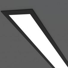 Линейный светодиодный встраиваемый светильник 53см 9Вт, черный матовый, LS-03-53-9-MB
