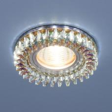 Встраиваемый точечный светильник с LED подсветкой 2216 MR16 MLT/CH мульти/хром