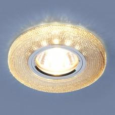 Встраиваемый потолочный светильник со светодиодной подсветкой Elektrostandard 2130 MR16 GС тонированный