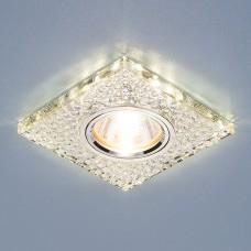 Встраиваемый потолочный светильник со светодиодной подсветкой Elektrostandard 2150 MR16 SL зеркальный/серебро
