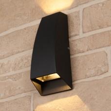 Настенный уличный светильник Elektrostandard Techno 1016 черный
