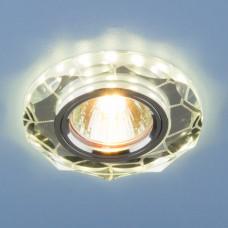 Встраиваемый потолочный светильник со светодиодной подсветкой Elektrostandard 2120 MR16 SL зеркальный/серебро