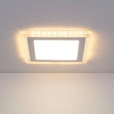 Встраиваемый потолочный светодиодный светильник Elektrostandard DLS024 18W 4200K