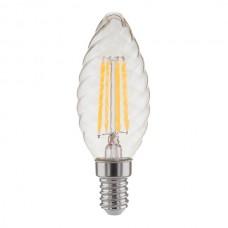 Светодиодная лампа свеча витая F BL129 7W E14 прозрачная