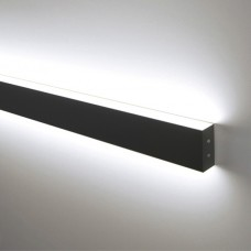 Линейный светодиодный накладной двусторонний светильник 128см 35Вт черная шагрень LS-02-2-128-35-MSh