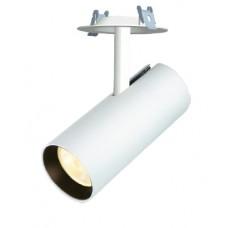 Трековый светодиодный светильник 3-фазный LUNA  LNT556 20W Встраиваемый