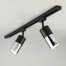 Трековый светодиодный светильник для однофазного шинопровода Avantag Черный матовый/хром 6W 4200K LTB27